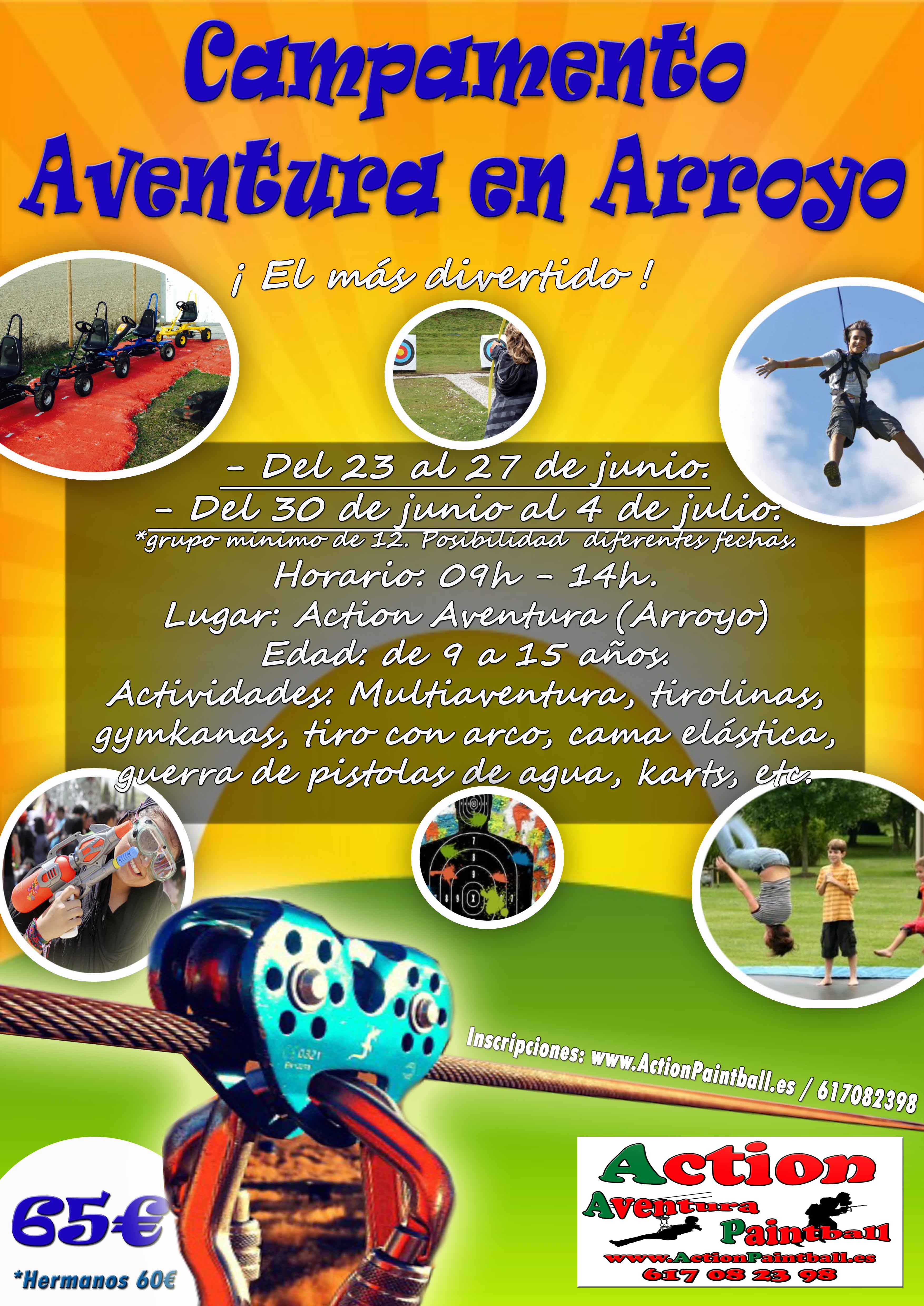 Campamento Aventura en Arroyo 2014